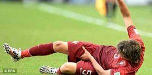 labdarúgó combizom húzódása