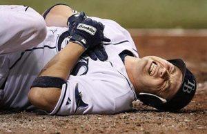 baseball játékos mellkas sérülése